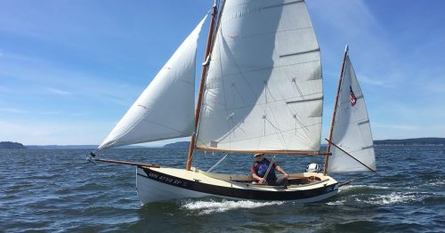 Joel Bergens Navigator sailboat.
